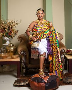 Nana Ama McBrown in traditional Kente cloth, African fashion, Ankara, kitenge, A. Nana Ama McBrown in traditiona. African Fashion Designers, African Dresses For Women, African Print Dresses, African Print Fashion, African Fashion Dresses, African Prints, African Outfits, African Clothes, Ankara Fashion