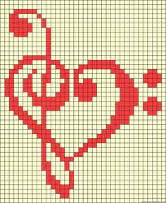 Brilliant Cross Stitch Embroidery Tips Ideas. Mesmerizing Cross Stitch Embroidery Tips Ideas. Bead Loom Patterns, Perler Patterns, Beading Patterns, Embroidery Patterns, Cross Stitch Music, Cross Stitch Heart, Cross Stitching, Cross Stitch Embroidery, Broderie Simple