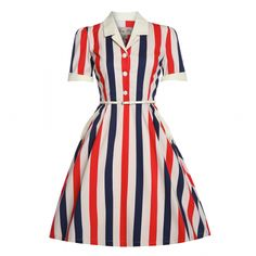 Brigitte' Paris Stripe Swing Dress
