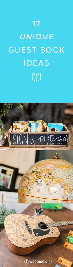 17 Unique Guest Book Ideas - Explore creative guestbook ideas you'll want to keep for years to come on @weddingwire