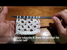 what's your fancy learn to crochet Tunisian lace stitch - YouTube