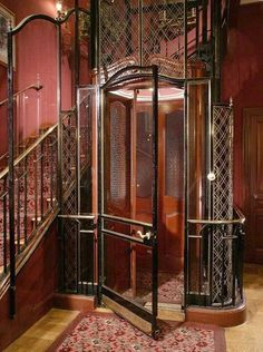 Victorian-Age, French-Style Lift at Club 33 * Disneyland California