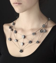 Diamond Slice Necklace by Sandra Enterline