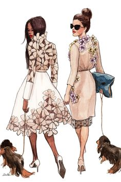 To the dog park we go. Illustration by Inslee.