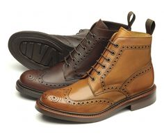 Bedale - Loake Premium brogue boot, made in England. - Goodyear Welted Rubber Soles - Fully Leather Lined - Leather insoles - Last Pennine / G Fitting Me Too Shoes, Men's Shoes, Shoe Boots, Dress Shoes, Gentleman Shoes, Mens Boots Fashion, Brogues, Wingtip Shoes, Look Fashion