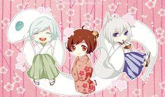Kamisama Kiss: Tomoe, Mizuki and Nanami Tomoe, Kamisama Kiss, Kawaii Chibi, Anime Chibi, Anime Manga, Kawaii Anime, Anime Art, Nocturne, Otaku