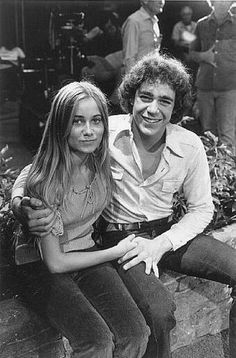 Maureen McCormick and Barry Williams during the height of their Brady Bunch fame.