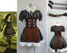Costume Steampunk, Style Steampunk, Steampunk Clothing, Steampunk Fashion, Steampunk Kids, Steampunk Halloween, Steampunk Dress, Alice Cosplay, Cosplay Dress