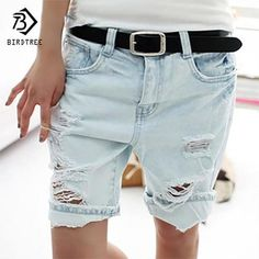 45fff37ce1b Cotton Casual Plus Size 4XL 2018 Hot Women s Jeans Short Dog Embroidery  Holes Ripped Pockets Knee Length Denim Shorts B7031307H