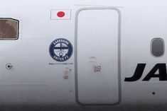 ''Kagohima United FC'' sticker on JA841C plane. (3rd version).