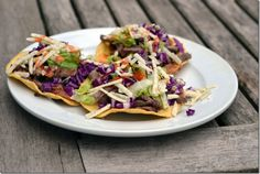 Make a pot of my stovetop refried beans over the weekend and you can make quick refried bean and steak tostadas for a weeknight dinner. Top Restaurants, Refried Beans, Veggie Dishes, Tostadas, Weekend Is Over, Steak, Cabbage, Mexican, Beef