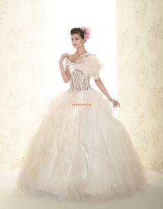 Estélyi ruha  Rövid ujjú Cipzár Menyasszonyi ruhák 2015