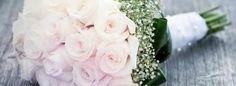 Bouquet mariée Roses blanches et Gypsophiles