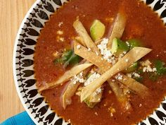 Get Classic Tortilla Soup Recipe from Food Network