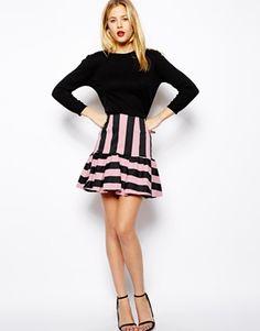 ASOS+Mini+Skirt+In+Stripe+with+Peplum