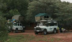 Richard Vonberg's camping setup with Land Rovers. My Land Rover has a Soul, MLRHAS, Land Rover Book Land Rovers, South Africa, Camping, Book, Campsite, Book Illustrations, Campers, Books, Tent Camping