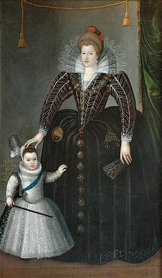 1603 Maria de Medici with little Louis XIII by Charles Martin