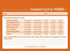 Would you like some professional feedback about your friendship performance? The new book Comment Cards for Life by Derek McCloud is here to help. [via neatorama] Previously: I Added Some Wine Recommendations to the Liquor Store by My House Letter Templates, Card Templates, Dna Technology, Fancy Letters, Tough Love, Letter J, Personal Relationship, Funny Comments, Band Aid