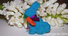 Needle Felt Easter Bunny (Cookie Cutter) - ZingZingTree