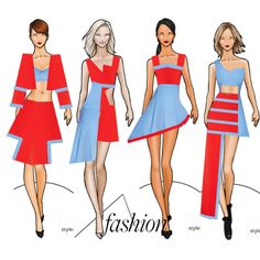 A fashion look from December 2015 featuring blue dress and mesh dress. Browse and shop related looks. Fashion Model Sketch, Fashion Design Sketchbook, Fashion Design Drawings, Fashion Sketches, Fashion Gallery, Art Deco Fashion, Fashion Illustration Poses, Croquis Fashion, Fashion Drawing Dresses