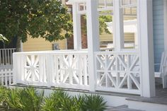 Deck Skirting Ideas - Deck skirting is a material affixed to sustain post and also boards listed below a deck. Obtain some wonderful concepts for one-of-a-kind deck skirting treatments in this . Front Porch Railings, Patio Railing, Porch Stairs, Wood Railing, Railing Design, Railing Ideas, Porch Wood, Pergola With Roof, Cheap Pergola