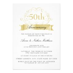 More elegant Wedding Anniversary invitations in the Little bayleigh Store! 50th Anniversary Invitations, Wedding Anniversary Celebration, Gold Invitations, Custom Invitations, Invitation Cards, Gold Wedding, Elegant Wedding, Envelope Liners, Celebrity Weddings