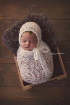 Hand knitted Mohair wrap and bonnet set by ZucchiniIslandKnits Newborn Posing, Newborn Baby Photography, Newborn Photo Props, Newborn Pictures, Baby Pictures, Newborn Pics, Newborn Outfits, My Baby Girl, Baby Girl Newborn