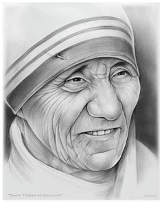 Mother Teresa Pencil Drawing is among the easiest and efficient artistry, which you can get as a pass period as well as total time hobby or task. Pencil Sketch Portrait, Portrait Sketches, Portrait Art, Pencil Sketch Art, Realistic Pencil Drawings, Art Drawings Sketches Simple, Pencil Art Drawings, Christian Drawings, Indian Art Paintings