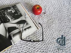 Lightgrey cotton rug