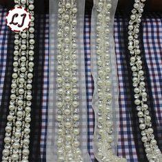 Новинка 2yd / много ремесло плетеной жемчужина горный хрусталь ручной белый черный вышитые кружева ленты пришить леди пальто платье DIY