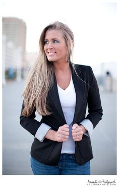 headshot/business portrait - slow urban background, business casual outfit, great lighting, off gaze