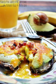 Egg, Cheese, and Avocado Stuffed Portabella Mushrooms