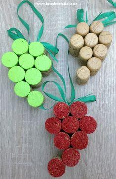 DIY Trauben-Anhänger aus Korken – Herbstdeko | DIY Grape Ornament made of Cork – Fall Decor [Schritt-für-Schritt-Anleitung mit Fotos]
