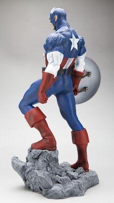 Captain America Statue side view