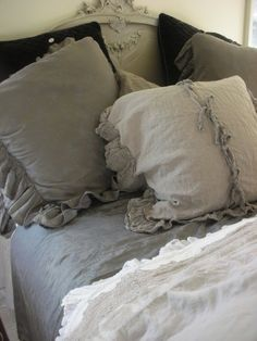 Washed Ruffled Linens and a Life Lesson | Beyond the Screen Door