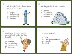 Help students remember rocks and mineral facts with this fun resource that includes task cards, three center or seatwork activities, a whole group activity, plus a rocks and minerals game! $