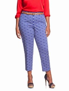 Printed Sateen Ankle Pant