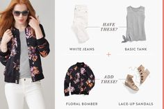 """Get a Style Refresh Instantly with These 5 Tips - the white denim + basic tank update (""""Stylist Tip: """"Neutral basics are the perfect canvas for adding in ultra-trendy pieces. It creates a clean, simple base so that patterns & prints can really pop!"""" —Emily D. """") #whitejeans #greyshirt #howtowear"""