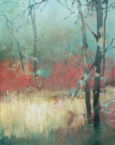 Randall David Tipton - oil on canvas 20x16 - Another from the marshy area where Fanno Creek joins the Tualatin River.