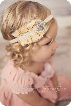Vintage Baby Headband-- Brenda! This would be so cute adult sized on you with your cute curly short hair!!