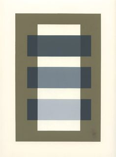Josef Albers silkscreen | Interaction of Color, 1963 Quiltspiration