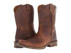 Detalles acerca de Men's cowboy boots Dark Brown plain soft ...