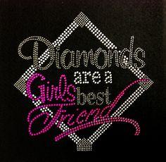 Rhinestone Iron On Diamonds Are A Girls Best Friend by BlingMeBaby