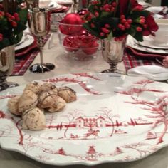 Juliska holiday pattern... So beautiful -  Would be so cute with my Spode Christmas dishes