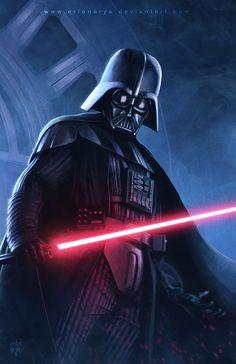 Darth Vader by erlanarya. #StarWars #Art #gosstudio .★ We recommend Gift Shop: http://www.zazzle.com/vintagestylestudio