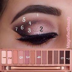 Naked 3 tutorial beautiful pink eyeshadow creates a simple yet elegant make up - Tolle augen - Eye Makeup Makeup Goals, Makeup Inspo, Makeup Inspiration, Makeup Ideas, Makeup Tutorials, Eyeshadow Tutorials, Makeup Designs, Hairstyle Tutorials, Makeup Trends