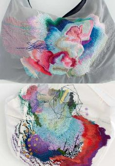 Arimoto Yumiko expresses  herself through embroidery with a unique lyrical grace.
