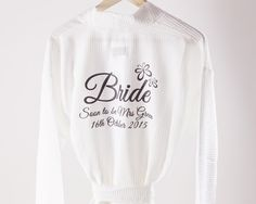 Personalized Wedding Gifts, Graphic Sweatshirt, Treats, Pure Products, Bridal, Sweatshirts, Lady, Sweaters, Men