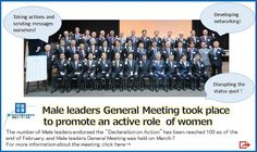 Male leaders General Meeting took place to promote an active role of women