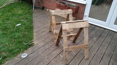 Trestle From Pallets Pallet Ideas, Pallet Projects, Projects To Try, Creative Crafts, Diy Crafts, Carpentry Tools, Pallets, Household, Home And Garden